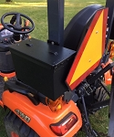 Tool Box Mount for Kubota Models BX1880, BX2380,  BX2680, and BX235 - Made in the USA